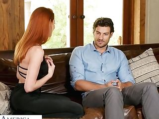 Hot Like Fore Ginger Bitch Lacy Lennon Gets Into Pants Of Beautiful...