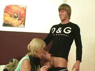 Old Bitch Railing His Youthful Manmeat