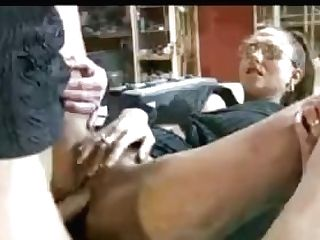Dutch Mummy With Glasses Fucked At Work