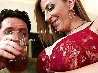 Mega Huge-boobed Mommy Sara Jay Gives A Boobjob And Bangs One...