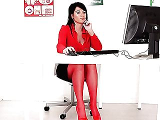 Perverted Upskirt Solo During Lunch Time Of Lusty Office Bi-atch...