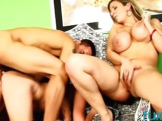 One Dude Fucks Two Killing Hot Huge-chested And Big Tittied Cougars