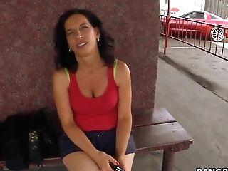 Curvy Latina Cougar Melissa Monet Gets Filmed Outdoor