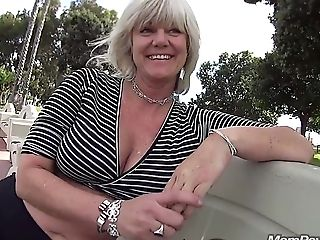 Cougar Fucks In Public Bathroom Stall