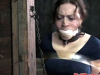 Ball-gagged Domination & Submission Mommy In A Vagina For Her...